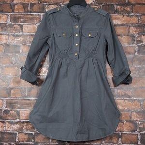 GAP| Maternity Utility Shirt Dress sz S